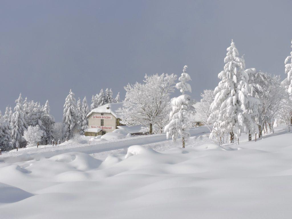 Aux Sources de la Loire en raquettes à neige
